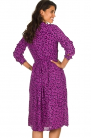 Lolly's Laundry |  Printed dress Sienna | purple  | Picture 6