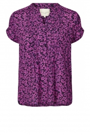 Lolly's Laundry |  Floral top Heather | purple  | Picture 1
