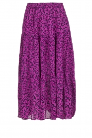 Lolly's Laundry |  Floral midi skirt Morning | purple  | Picture 1