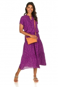 Lolly's Laundry |  Floral midi skirt Morning | purple  | Picture 3