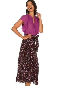 Lolly's Laundry |  Printed maxi skirt Amby | blue  | Picture 4