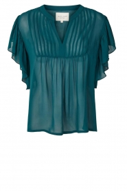 Lolly's Laundry |  Top with pleats Isabell | blue  | Picture 1