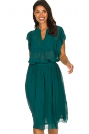 Lolly's Laundry |  Top with pleats Isabell | blue  | Picture 2