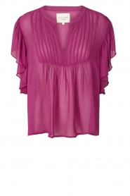 Lolly's Laundry |  Pleated top Isabell | purple  | Picture 1
