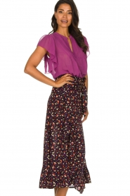 Lolly's Laundry |  Pleated top Isabell | purple  | Picture 2