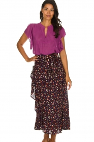 Lolly's Laundry |  Pleated top Isabell | purple  | Picture 4
