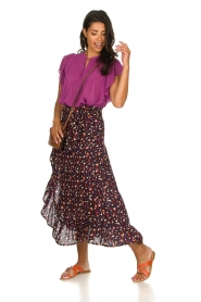 Lolly's Laundry |  Pleated top Isabell | purple  | Picture 5