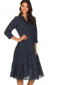 Lolly's Laundry |  Printed maxi dress Olivia | blue  | Picture 5