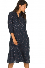 Lolly's Laundry |  Printed maxi dress Olivia | blue  | Picture 4
