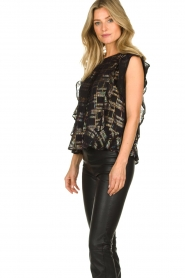 Lolly's Laundry |  Top with lurex details Harmony | black  | Picture 4