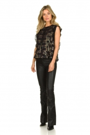 Lolly's Laundry |  Top with lurex details Harmony | black  | Picture 3