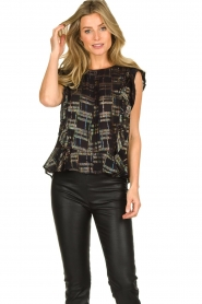 Lolly's Laundry |  Top with lurex details Harmony | black  | Picture 2