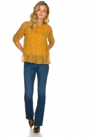 Lolly's Laundry |  Printed top Jenny | yellow  | Picture 3