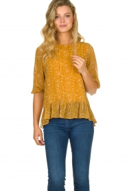 Lolly's Laundry |  Printed top Jenny | yellow  | Picture 2