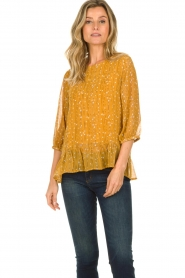 Lolly's Laundry |  Printed top Jenny | yellow  | Picture 4