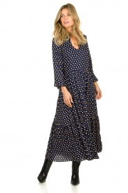 Lolly's Laundry |  Printed maxi dress Lilila | blue  | Picture 2
