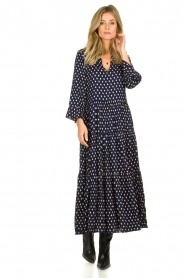 Lolly's Laundry |  Printed maxi dress Lilila | blue  | Picture 4