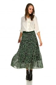 Lolly's Laundry | Skirt with print | green  | Picture 3