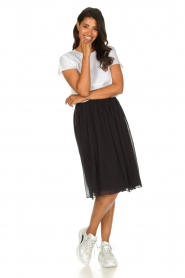 Lolly's Laundry |  Pleated midi skirt Pauline | black  | Picture 3