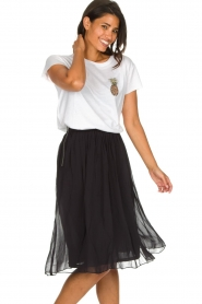 Lolly's Laundry |  Pleated midi skirt Pauline | black  | Picture 2