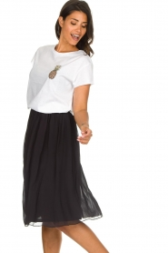 Lolly's Laundry |  Pleated midi skirt Pauline | black  | Picture 4