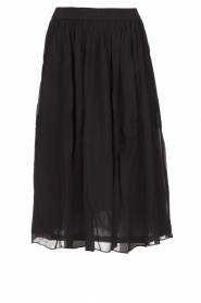 Lolly's Laundry |  Pleated midi skirt Pauline | black  | Picture 1