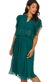 Lolly's Laundry |  Pleated midi skirt Pauline | green  | Picture 2