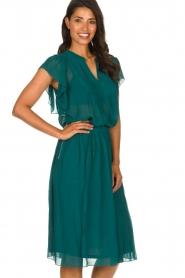 Lolly's Laundry |  Pleated midi skirt Pauline | green  | Picture 5
