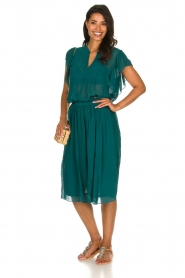 Lolly's Laundry |  Pleated midi skirt Pauline | green  | Picture 3