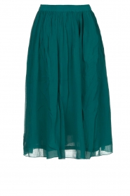 Lolly's Laundry |  Pleated midi skirt Pauline | green  | Picture 1
