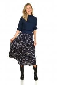 Lolly's Laundry | Skirt with print Morning | blue  | Picture 3