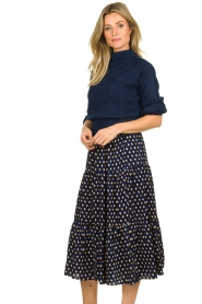 Lolly's Laundry | Skirt with print Morning | blue  | Picture 4
