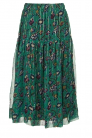 Lolly's Laundry | Skirt with lurex Cokko | green  | Picture 1