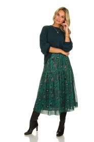 Lolly's Laundry | Skirt with lurex Cokko | green  | Picture 2