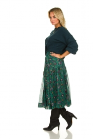 Lolly's Laundry | Skirt with lurex Cokko | green  | Picture 3