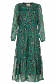 Lolly's Laundry | Maxi-dress with lurex  Anastacia | green  | Picture 1