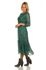 Lolly's Laundry | Maxi-dress with lurex  Anastacia | green  | Picture 4