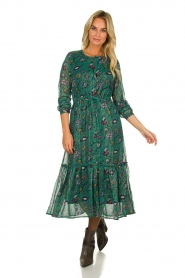 Lolly's Laundry | Maxi-dress with lurex  Anastacia | green  | Picture 2