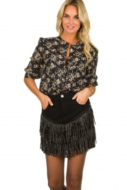 Lolly's Laundry | Top with lurex  Amalie | black  | Picture 2