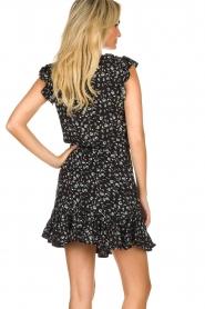 Aaiko |  Floral blouse Deno | black  | Picture 5