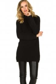 Aaiko |  Tunic sweater Bree | black  | Picture 4