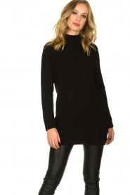 Aaiko |  Tunic sweater Bree | black  | Picture 2