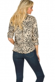 Aaiko |  Animal print blouse Marta | nude  | Picture 5