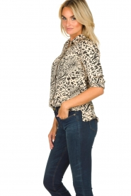 Aaiko |  Animal print blouse Marta | nude  | Picture 4