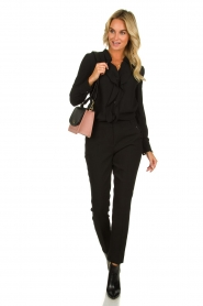 Aaiko |  Classic trousers Parien | black  | Picture 3