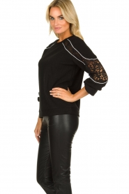 Aaiko |  Sweater with lace details Savana | black  | Picture 3