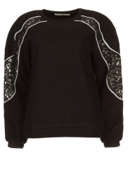 Aaiko |  Sweater with lace details Savana | black  | Picture 1