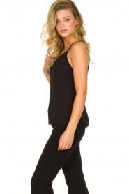 Aaiko |  Sleeveless top with lace Vlint | black  | Picture 4