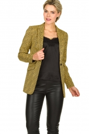 Aaiko | Blazer with print Adeline | yellow  | Picture 2