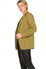 Aaiko | Blazer with print Adeline | yellow  | Picture 4